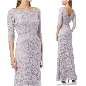 JS Collections Lavender Lace Gown